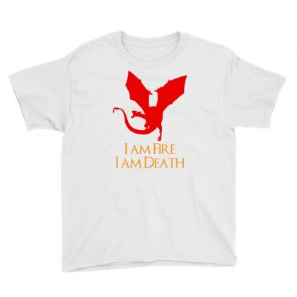 I Am Fire I Am Death Youth Tee Designed By Specstore