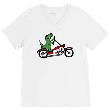 Crocodile Harley V-neck Tee Designed By Feniavey
