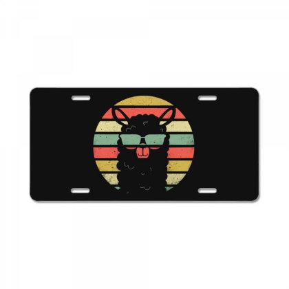 Alpaca Llama Purple Vintage Retro License Plate Designed By Blqs Apparel